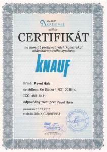 knauf certifikát